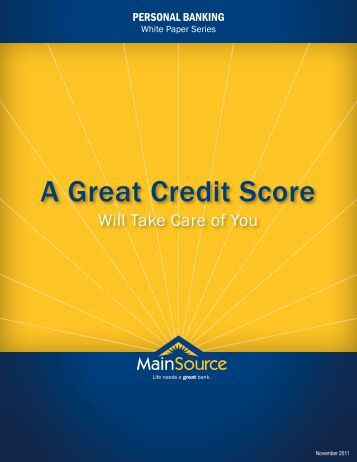 A Great Credit Score - MainSource Bank