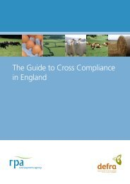 Guide to Cross Compliance in England - The Rural Payments ...