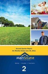 2nd Quarter 2011 - MainSource Bank