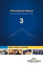 3rd Quarter 2012 - MainSource Bank