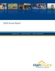 MSFG 2009 Annual Report - MainSource Bank