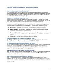 Frequently Asked Questions About MainSource ... - MainSource Bank
