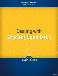 Student Loan Debt - MainSource Bank
