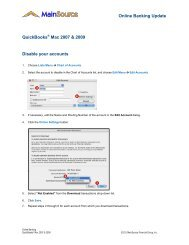 QuickBooks - MainSource Bank