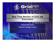 Real Time Monitor of Grid Job Executions - GridPP
