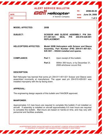SERVICE BULLETIN Replacement of fuel ... - Rotax-Owner.com