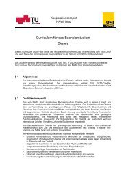 Curriculum für das Bachelorstudium Chemie - mibla.TUGraz.at