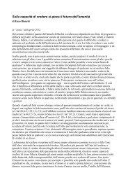Articolo di Enzo Bianchi - ACLI Trentine