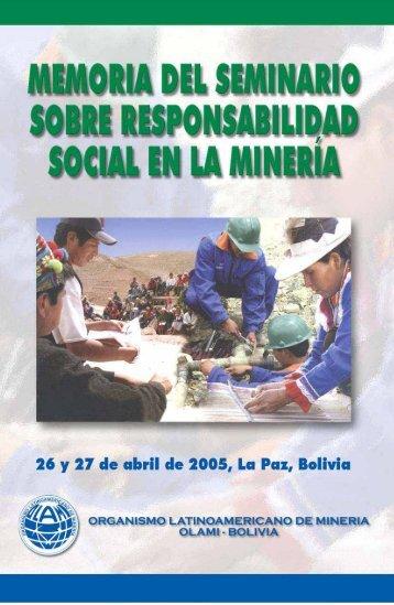 Memoria sobre Responsabilidad Social en la Minería