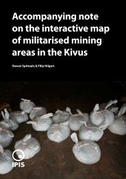 Accompanying note on the interactive map of militarised ... - Ipis