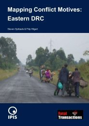 Mapping Conflict Motives: Eastern DRC - Ipis