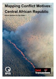 Mapping Conflict Motives: Central African Republic - Ipis