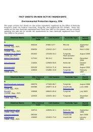 fact sheets on new active ingredients - Revista Virtual de Redesma