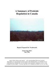 A Summary of Pesticide Regulation in Canada - Revista Virtual de ...
