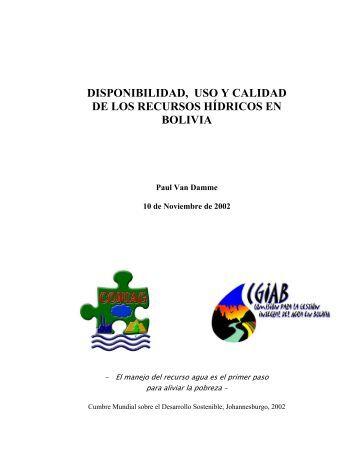 Recursos Hídricos en Bolivia - Revista Virtual de Redesma
