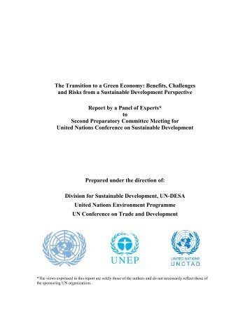 The Transition to a Green Economy: Benefits, Challenges ... - UNEP
