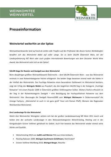 PT_Weinviertel_weiterhin_an_der_Spitze [PDF ... - Weinviertel DAC