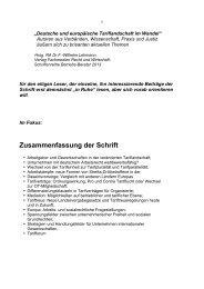 Zusammenfassung der Schrift - Arbeitsrecht