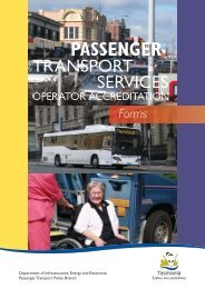 Operator Accreditation Manual - Forms - Transport