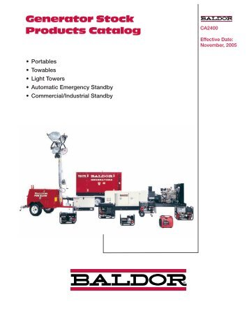 Generator Stock Products Catalog - Phase-A-Matic, Inc.