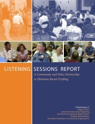 LISTENING SESSIONS REPORT - Racial Equity Tools