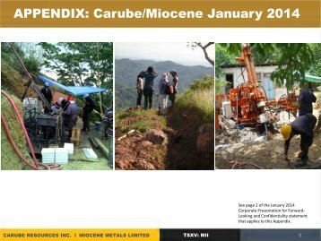APPENDICES September 24, 2012 - Carube Resources