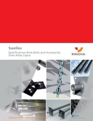 Swellex Specifications Rock Bolts and Accessories - Minova