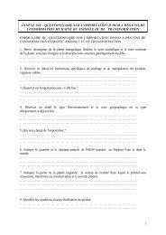 annexe xiv : questionnaire sur l'importation d'ogm a des fins de ...