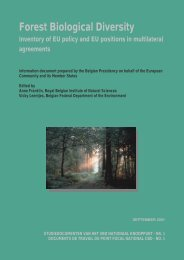 Forest Biological Diversity - Belgian Clearing-House Mechanism