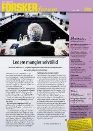 ledere mangler selvtillid - FORSKERforum