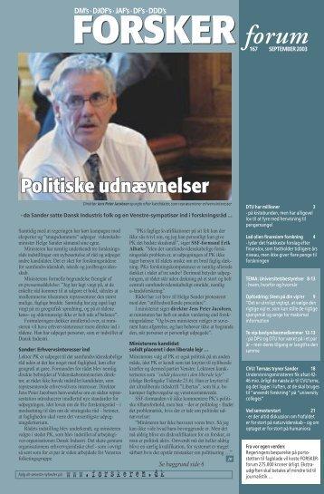 Politiske udnævnelser - FORSKERforum