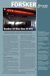 forum FORSKER Banker vil ikke låne til DTU - FORSKERforum