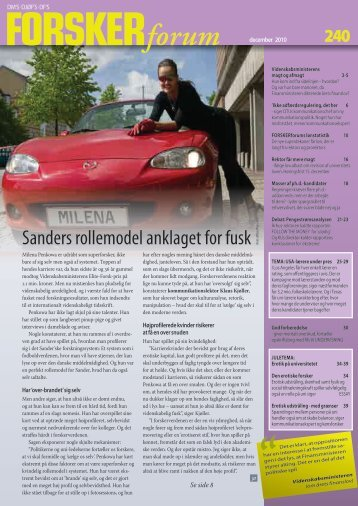 Sanders rollemodel anklaget for fusk (Foto: AllO - FORSKERforum