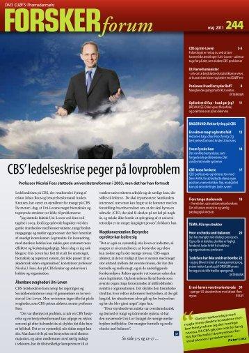 CBS' ledelseskrise peger på lovproblem - FORSKERforum