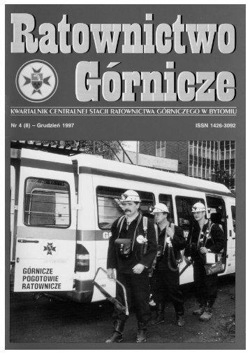 RG 1997 Nr 4 - Centralna Stacja Ratownictwa Górniczego w Bytomiu