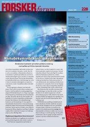 Klimabekymrede kontra skeptikerne - FORSKERforum
