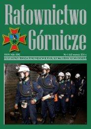 RG 2011 Nr 1 - Centralna Stacja Ratownictwa Górniczego w Bytomiu