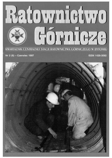 RG 1997 Nr 2 - Centralna Stacja Ratownictwa Górniczego w Bytomiu