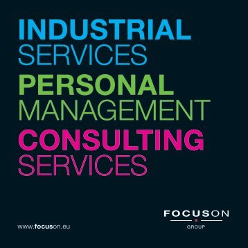 INDUSTRIAL SERVICES PERSONAL MANAGEMENT CONSULTING SERVICES