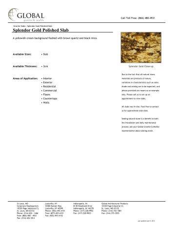 Splendor Gold Polished Slab - Global Granite & Marble