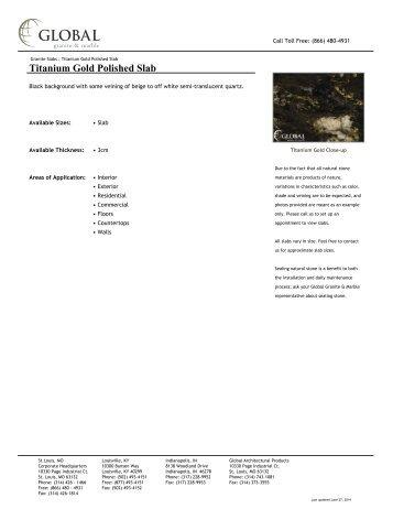 Titanium Gold Polished Slab - Global Granite & Marble