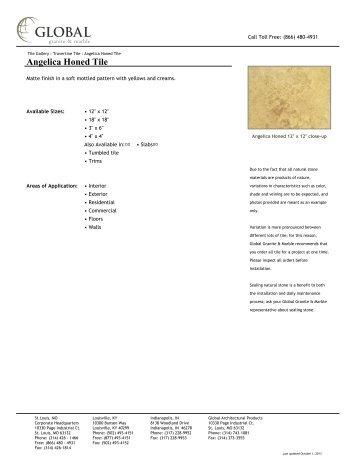 Angelica Honed Tile - Global Granite & Marble