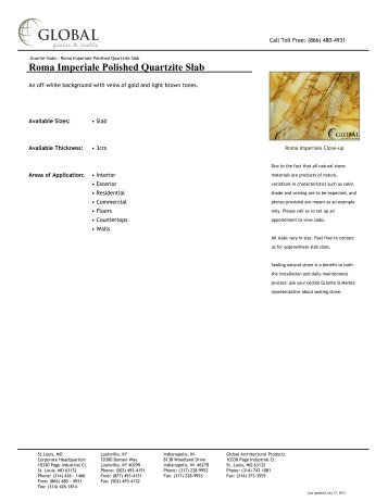 Roma Imperiale Polished Quartzite Slab - Global Granite & Marble