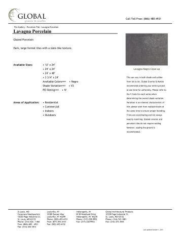 Lavagna Porcelain - Global Granite & Marble