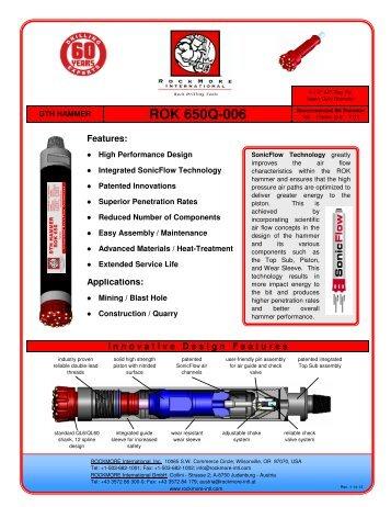 ROK 650Q-006 Hammer Flyer - Rockmore International
