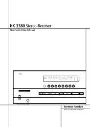 HK 3380 Stereo-Receiver - Aerne Menu