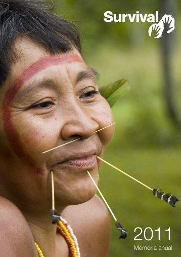 Memoria Anual 2011 - Survival International