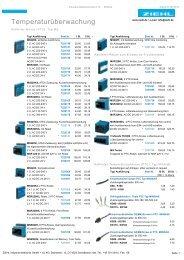 ZIEHL Preisliste - Ziehl industrie-elektronik GmbH + Co KG