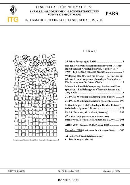 PARS-Mitteilungen 2007 - Parallel-Algorithmen ...