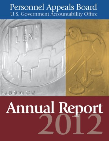 Annual Report - PAB - US Government Accountability Office